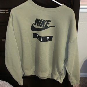 Oversized army green Nike sweatshirt